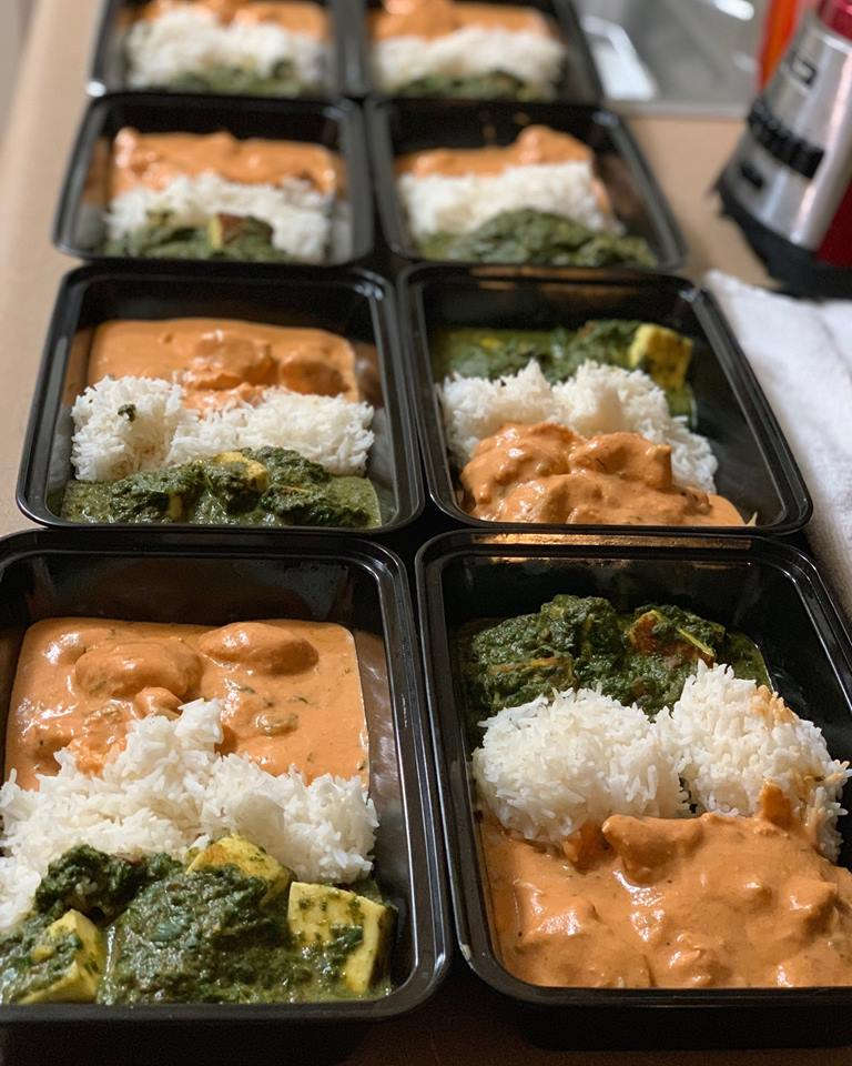 Butter Chicken and Palak Paneer Meal Prep